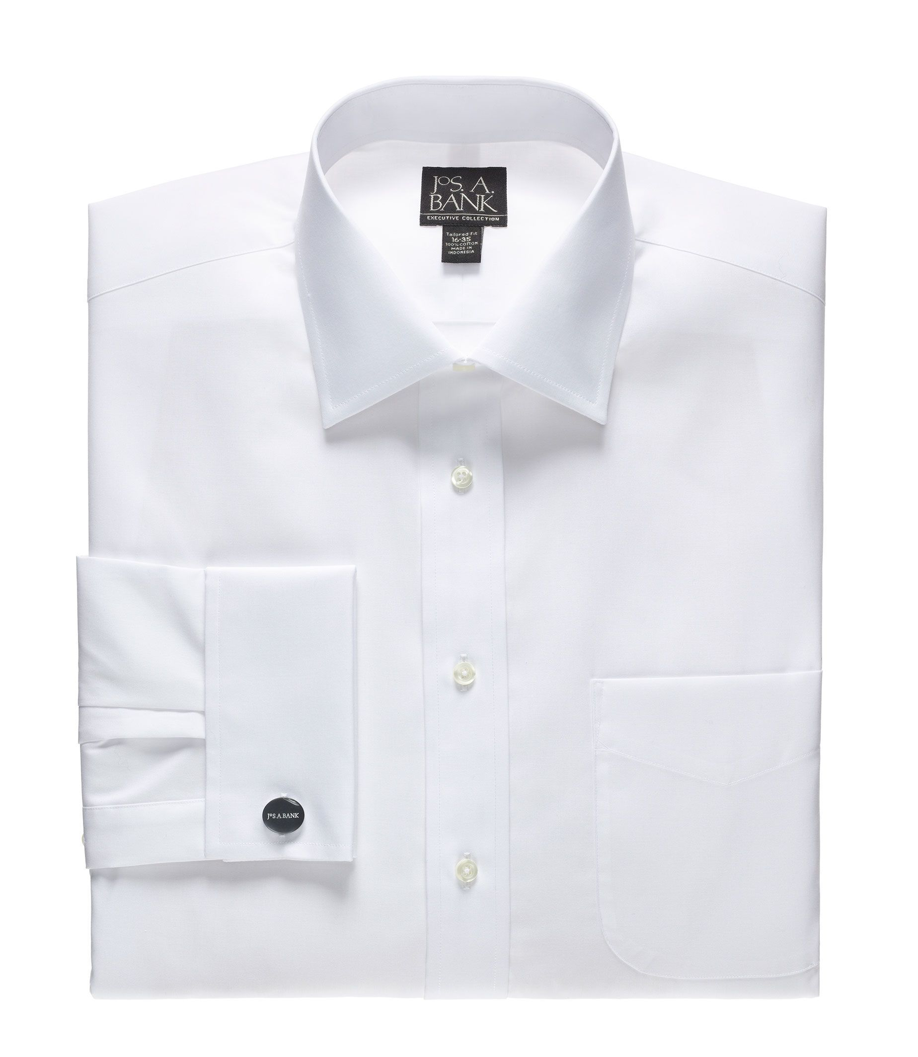 Executive Collection Tailored Fit Spread Collar Dress Shirt ...