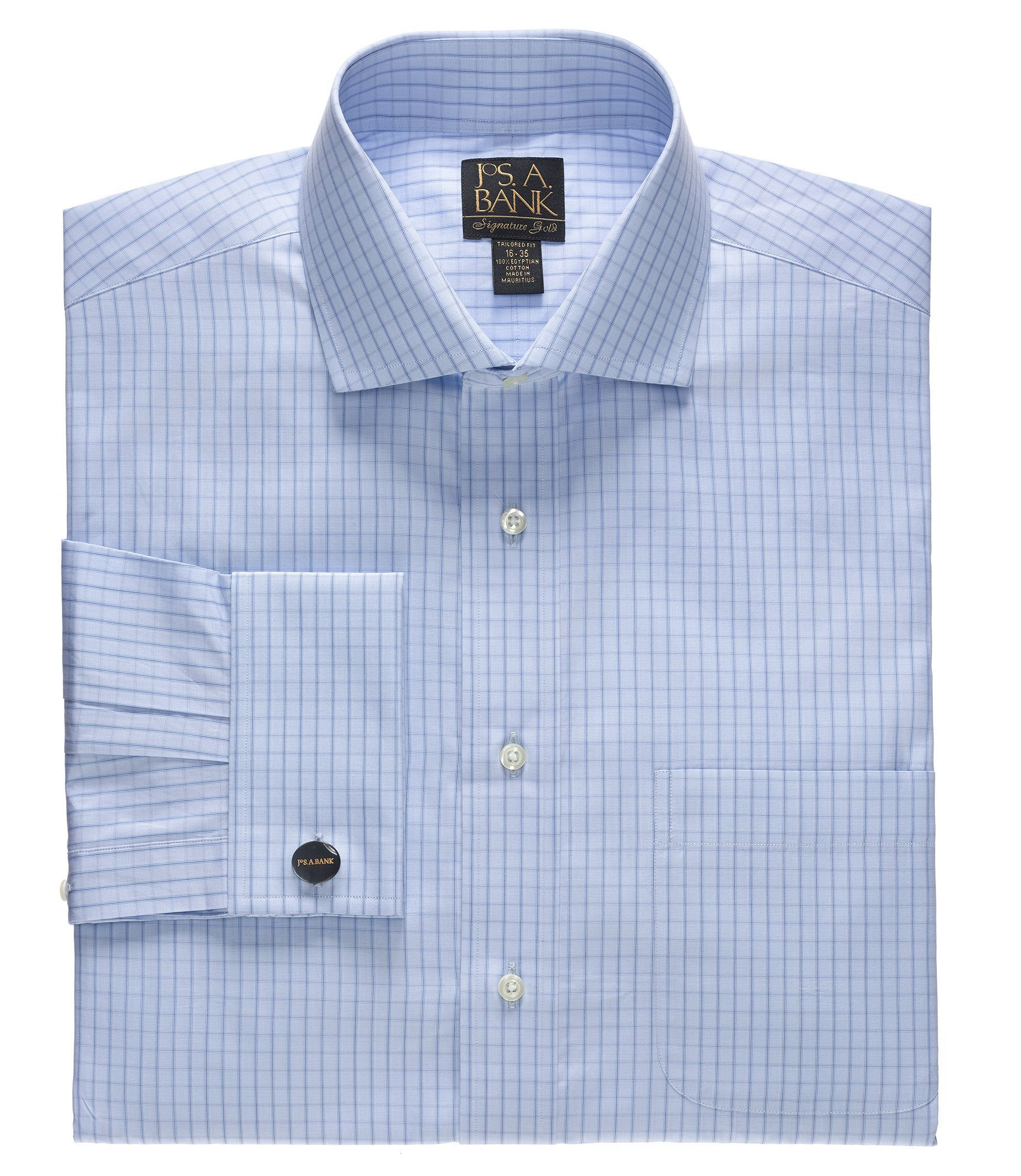 Signature Gold Tailored Fit Cutaway Collar/French Cuff Dress Shirt
