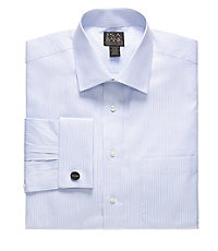 Signature Gold Tailored Fit Spread Collar French Cuff Dress Shirt