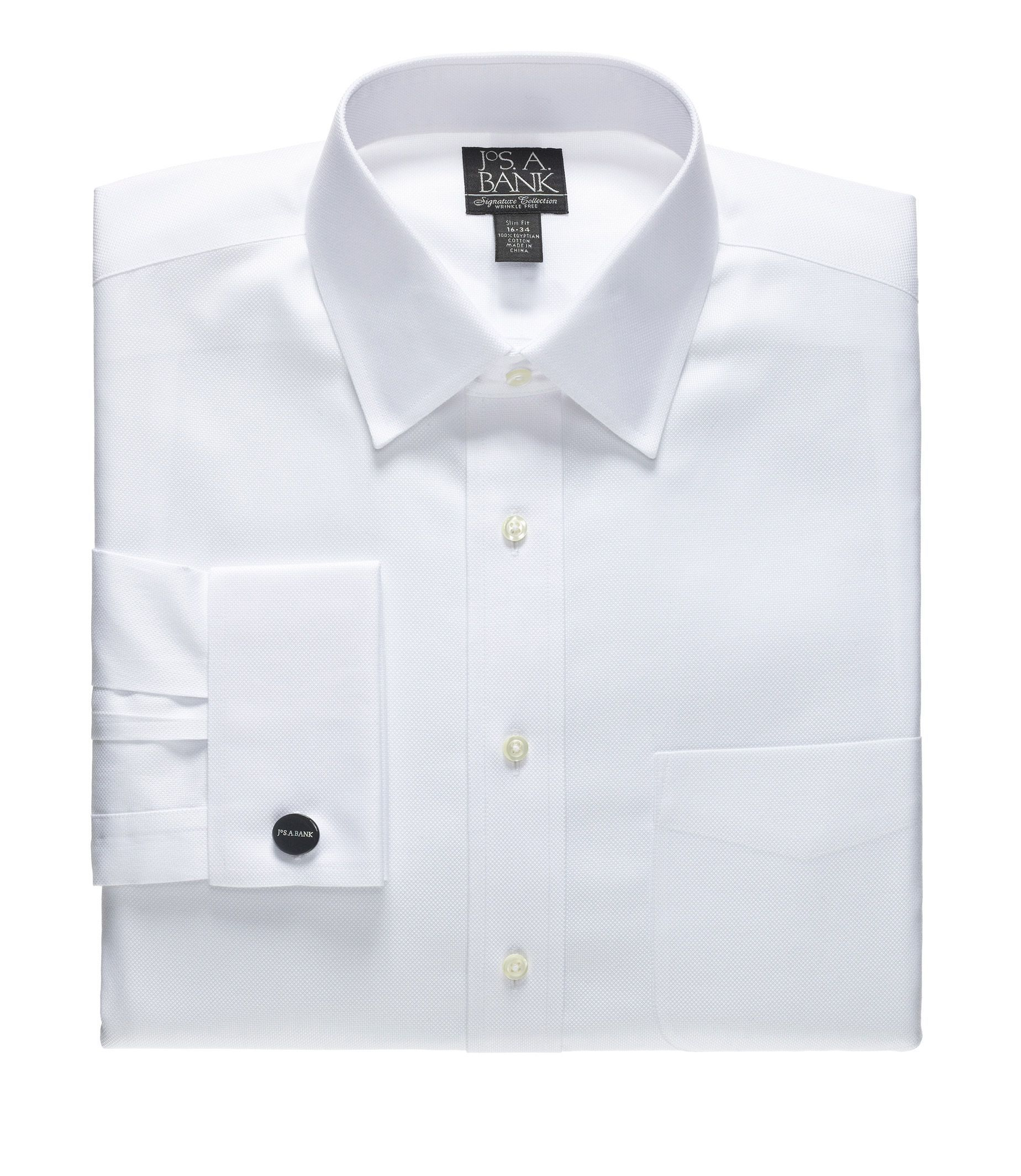 Signiture Slim Fit Spread Collar French Cuff Royal Oxford Dress Shirt