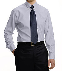 Classic Collection Non-Iron Slim Fit Buttondown Collar Dress Shirt