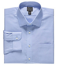 Traveler Wrinkle Free Slim Fit Point Collor Dress Shirt