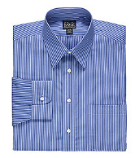 Traveler Wrinkle Free Slim Fit Point Collar Dress Shirt