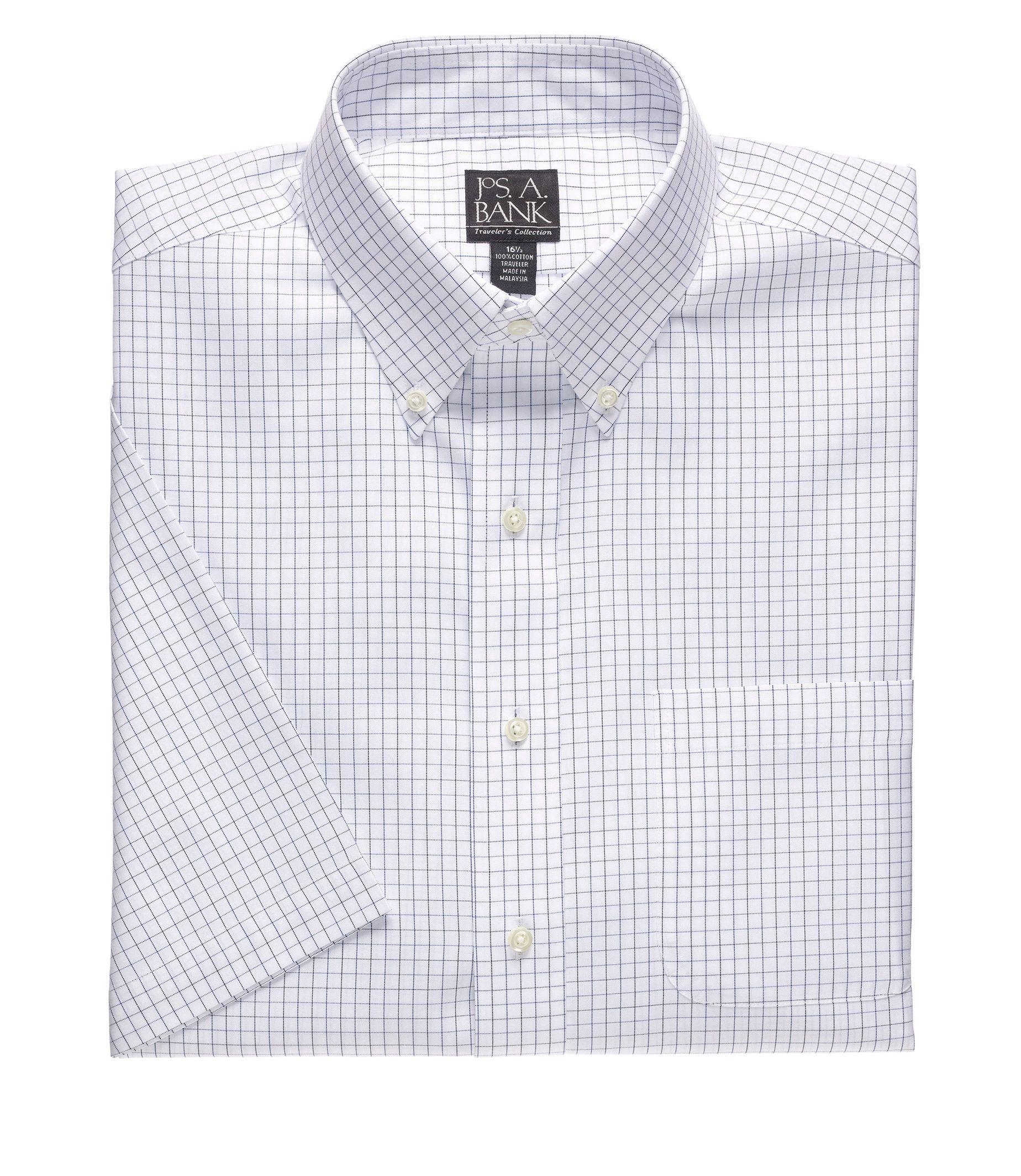 Travelers Button Down Short Sleeve Dress Shirt