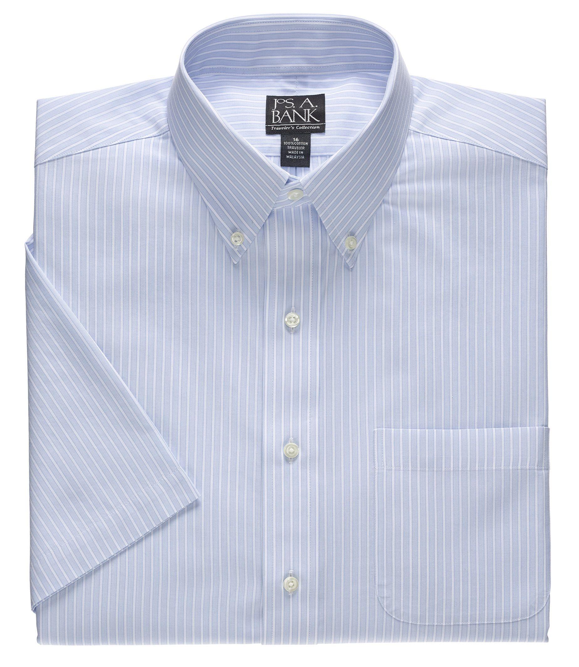 Travelers Short Sleeve Point Collar Dress Shirt
