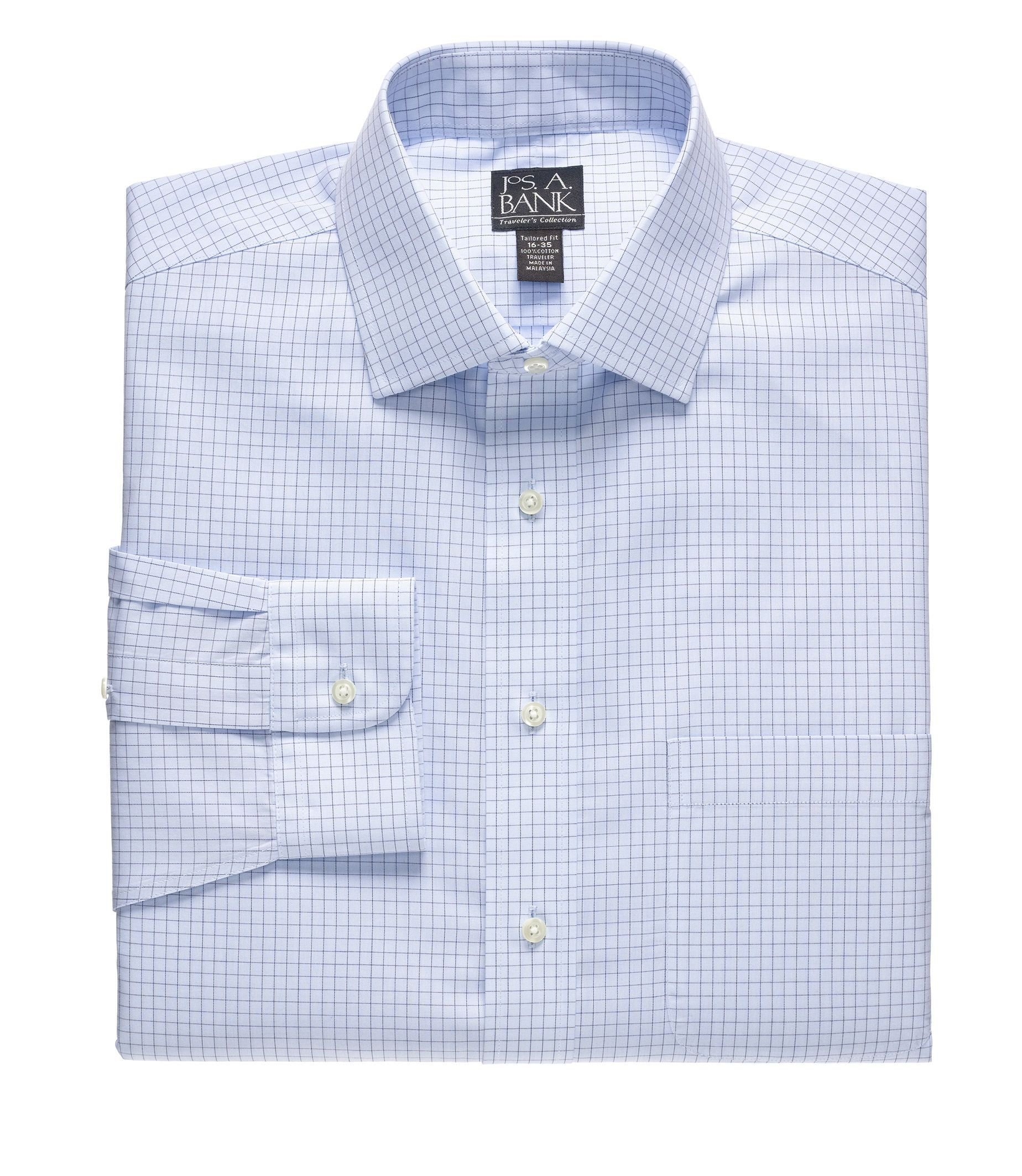 Traveler Tailored Fit Patterned Spread Collar Dress Shirt
