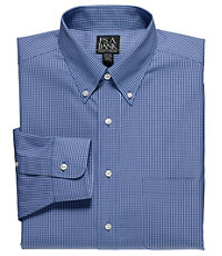 Traveler Tailored Fit Button Down Dress Shirt Big and Tall