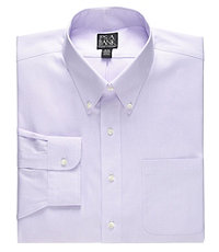 Traveler Big and Tall Patterned Button Down Dress Shirt