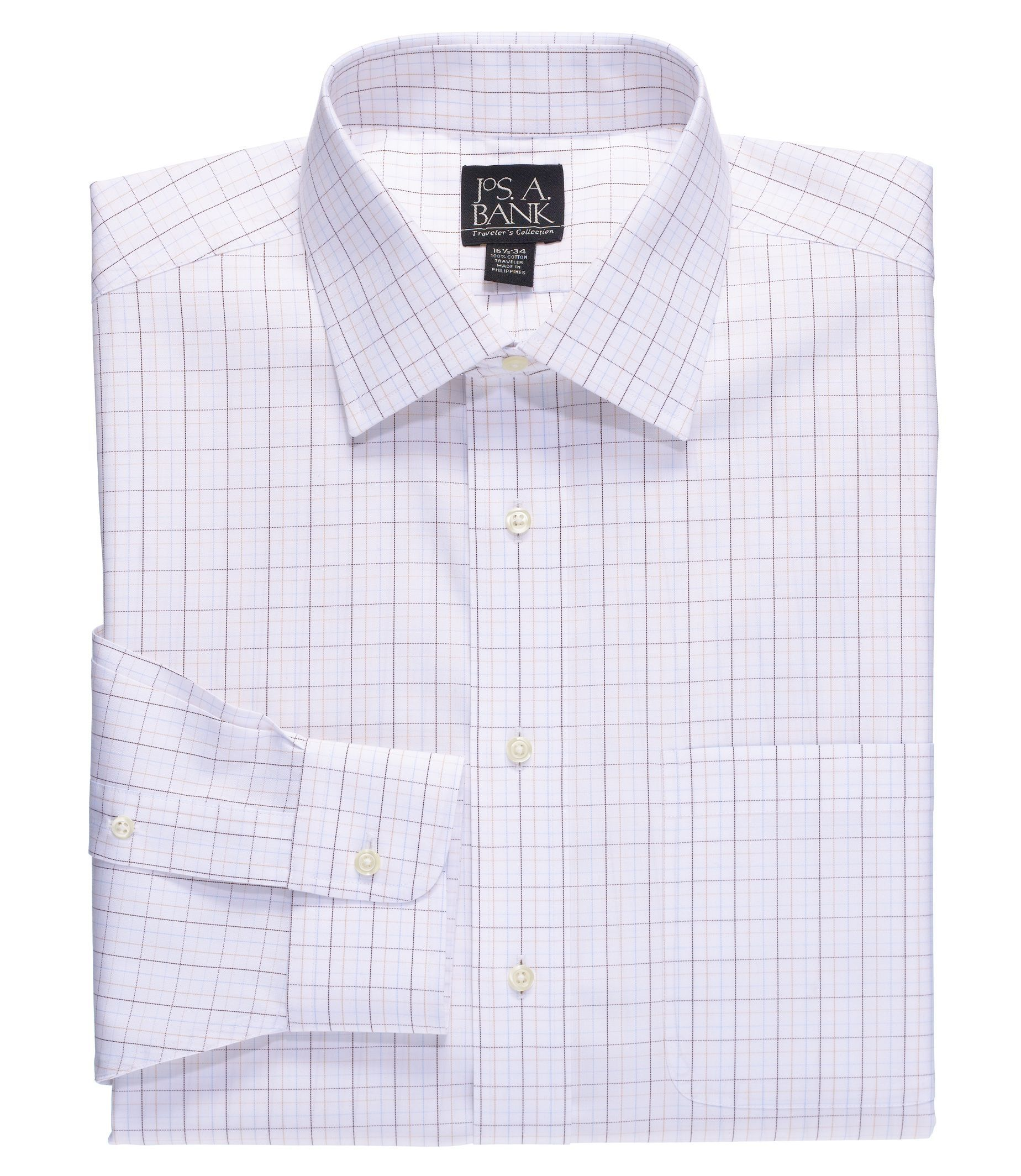 Traveler Big and Tall Tailored Fit Spread Collar Dress Shirt