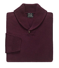 Factory Lambswool Shawl Collar Sweater
