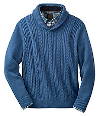Holiday Shawl Collar Cotton Sweater
