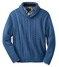Holiday Shawl Collar Cotton Sweater