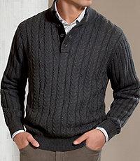 Executive 4 Button Mock Sweater