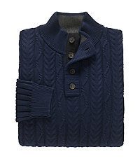 Men's Vintage Style Sweaters – 1920s to 1960s Executive Collection Mock Neck Mens Sweater -  $109.50 AT vintagedancer.com