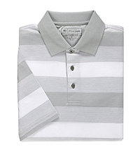 David Leadbetter Stays Cool Polo with Fast-Dry Fabric Multi Stripe