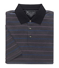 David Leadbetter Stays Cool Polo with Fast-Dry Fabric Diamond Stripe