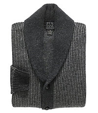 Lambswool Shawl Collar Button Sweater