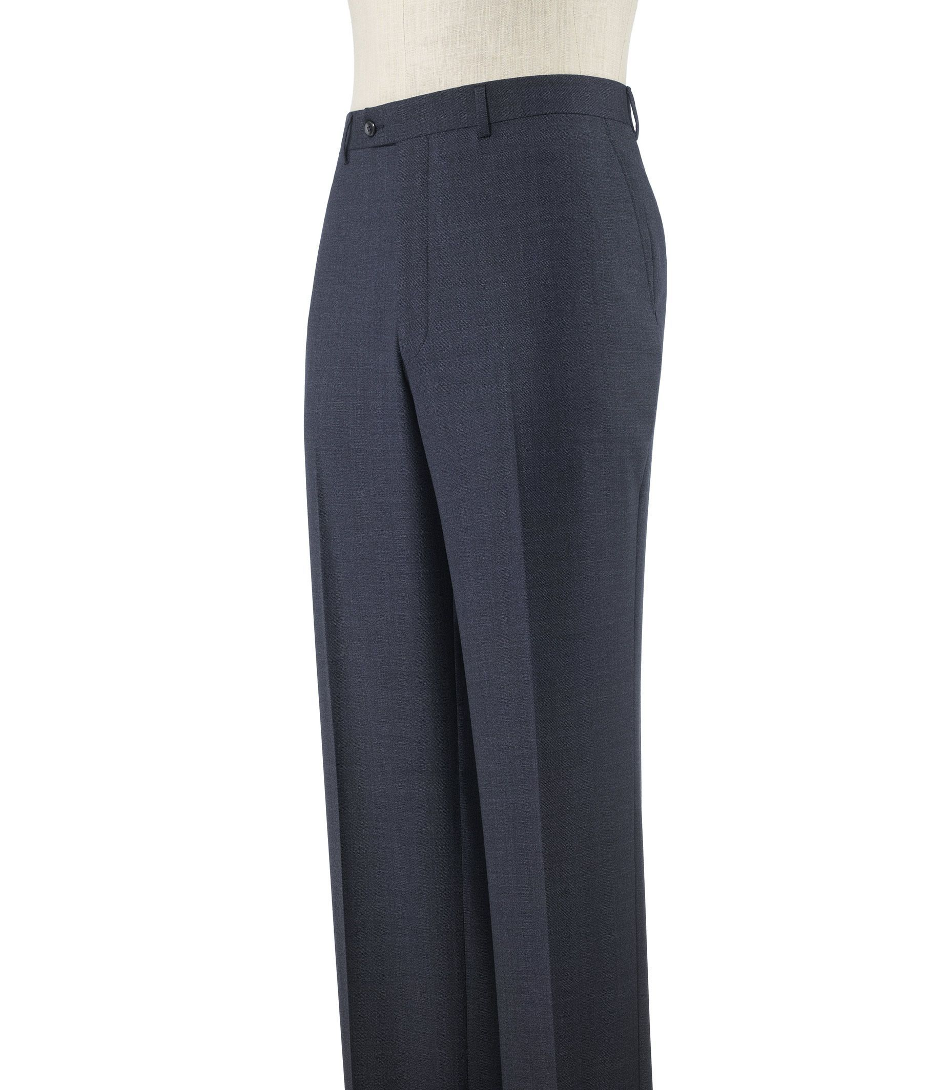 Executive Tailored Fit Plain Front Sharkskin Trousers