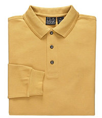 Long-Sleeve Solid Traveler Polos