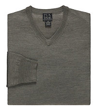 Executive Merino Blend V-Neck Sweater
