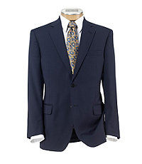 Signature 2-Button Wool Suit With Plain Front Trousers- Bright Navy