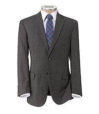 Traveler Tailored Fit 2-Button Suit with Plain Front Trousers- Brown