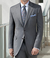 Signature Gold 2-Button Tailored Fit Wool Suit Extended