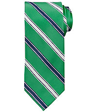 Signature Satin With Alternate Stripe Tie