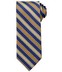 Signature Basketweave Striped Tie