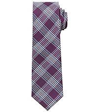Joseph Slim Plaid With Color Tie