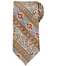 Signature Gold Floral Stripe Print Tie $99.50 AT vintagedancer.com
