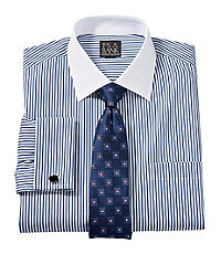 Executive Tailored Fit Spread Collar, French Cuff Dress Shirt