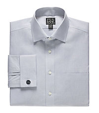 Traveler Traditional Fit, Spread Collar, French Cuff Dress Shirt