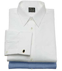 Traveler Slim Fit, Point Collar French Cuff Dress Shirt
