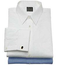 Traveler Slim Fit, Point Collar French Cuff Dress Shirt