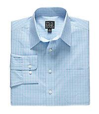 Traveler Point Collar Patterned Long Sleeve Sportshirt