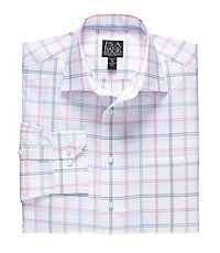 Signature Long-Sleeve Wrinkle-Free Cotton Spread Collar Sportshirt