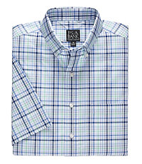 Traveler Short Sleeve Buttondown Patterned Sportshirt