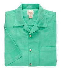 VIP Point Collar Short Sleeve PolyModal Jacquard Mens Sportshirt Big and Tall CLEARANCE - 3 X Big Aqua $59.98 AT vintagedancer.com