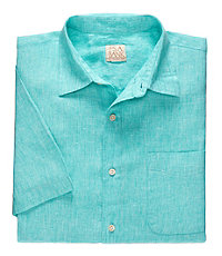 VIP Linen Point Collar Short-Sleeve Sportshirt