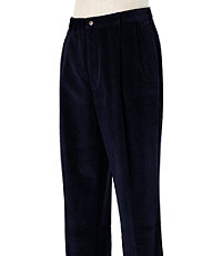 Colorfast Casual Corduroy Pleated Front Pants
