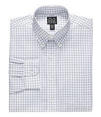 Traveler Tailored Fit Button Down Collar Patterned Dress Shirt