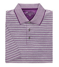 Stays Cool David Leadbetter Jacquard Stripe Polo
