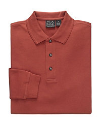 Traveler Long Sleeve Tailored Fit Polo
