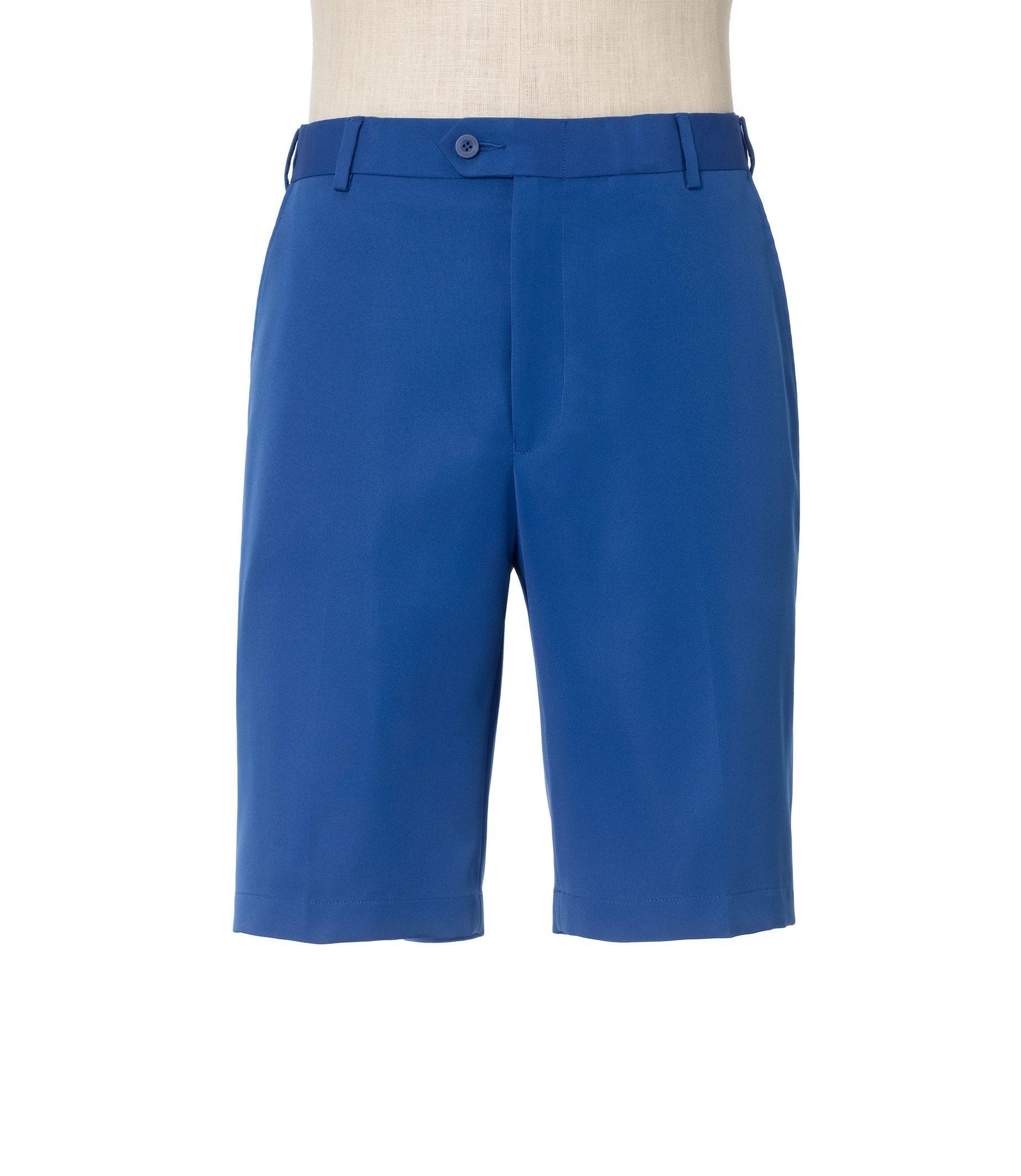 David Leadbetter Plain Front Tailored Fit Performance Shorts