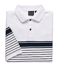 Traveler Chest Striped Short Sleeve Big/Tall Polo