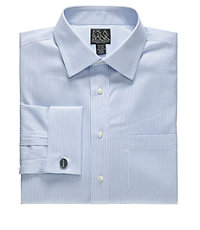 Signature Spread Collar French Cuff Tailored Fit Dobby Dress Shirt