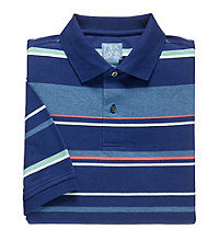 Stays Cool Short Sleeve Multi Striped Polo