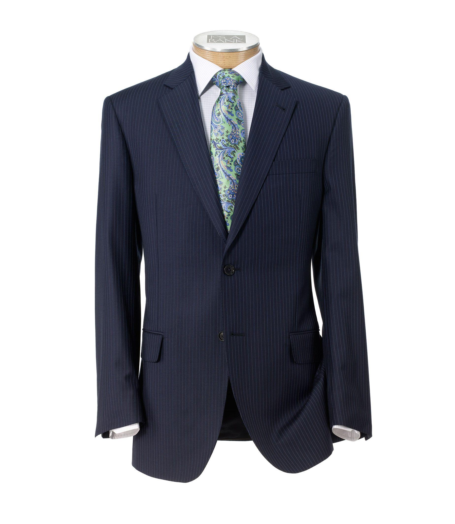 Signature Gold 150s 2 Button Plain Front Suit Extended Sizes