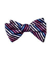 Executive Thin Repp Stripes Bowtie